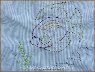 20130915  模様 全体 お魚クン エプロン