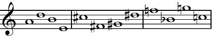ブリテン「ねじの回転 」の音列
