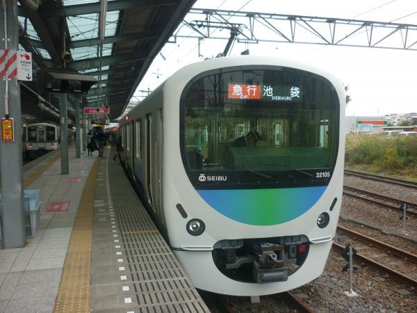 2014-11-08 西武32105F+38109F 急行池袋行き 2142レ