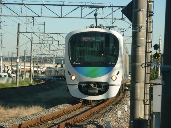 2014-11-14 西武32103F+38105F 急行飯能行き 2147レ