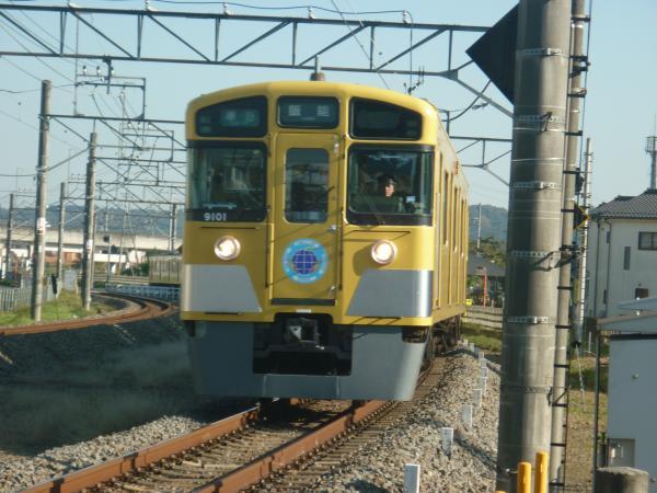 2014-11-22 西武9101F 準急飯能行き 4129レ