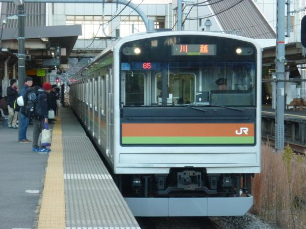 2014-12-06 八高・川越線205系ハエ84編成 川越行き
