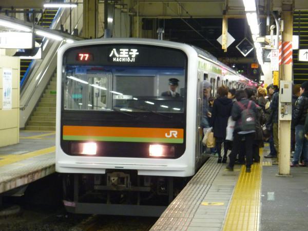 2014-12-06 八高・川越線209系ハエ63編成 八王子行き