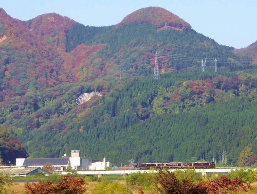 紅葉2014鳴子峡21陸羽東線鳴子鉄橋リゾートみのり