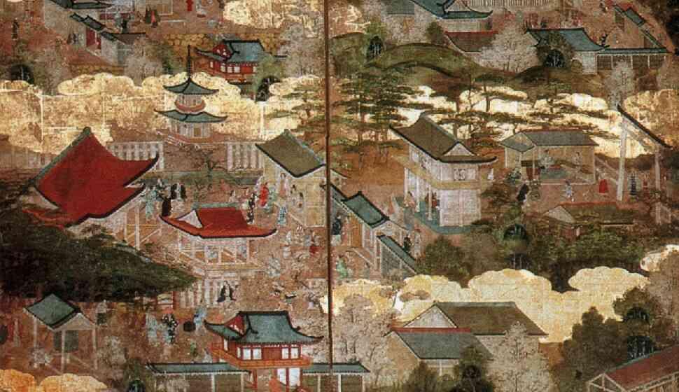 洛中洛外図屏風祇園