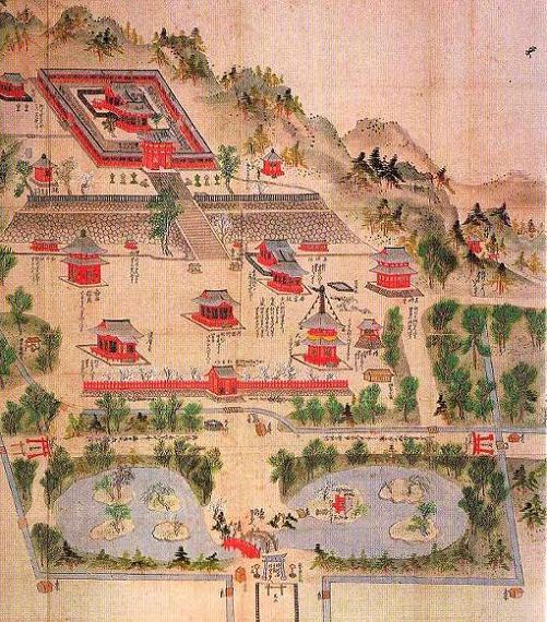 鶴岡八幡境内図