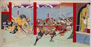 本能寺の変錦絵