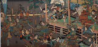 本能寺の変錦絵2