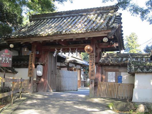 吉水神社の門
