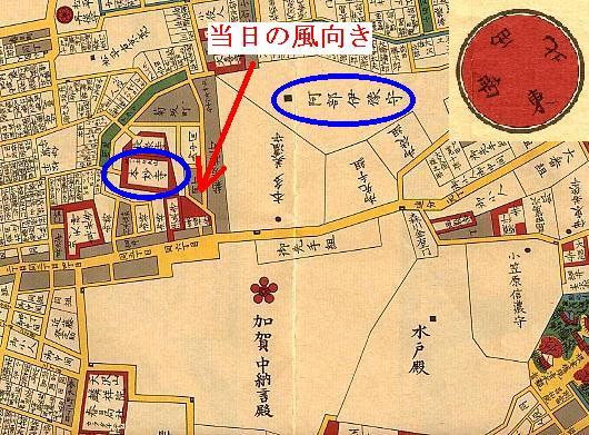 阿部家と本妙寺地図