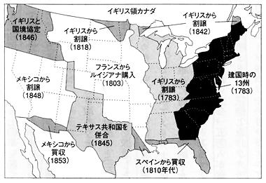 アメリカ領土拡大