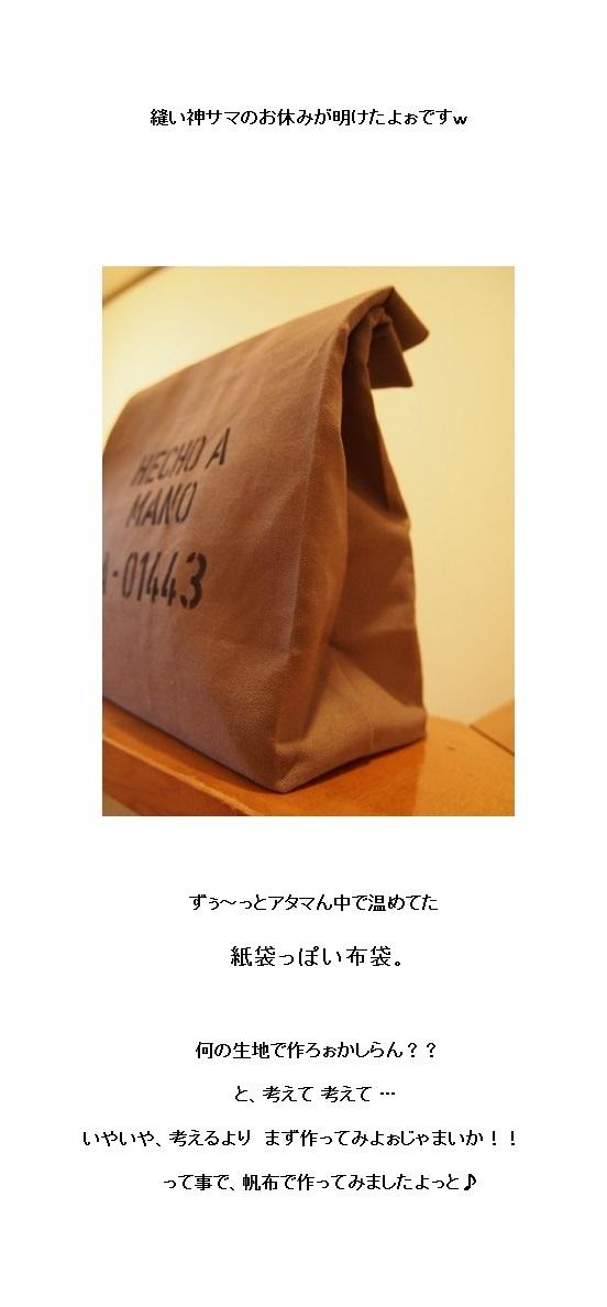 紙袋っぽい布袋1