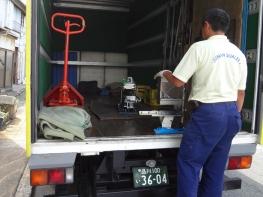 ゴムパッキン外観検査機の輸送