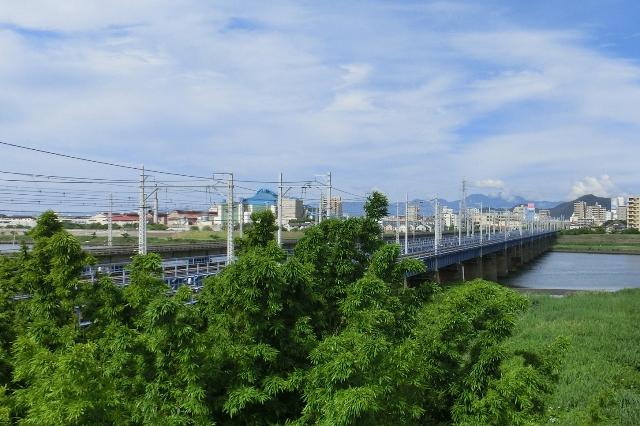 相模川に架かる鉄橋