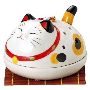 薬師幸せこいこい猫蚊遣器(金井陶苑)