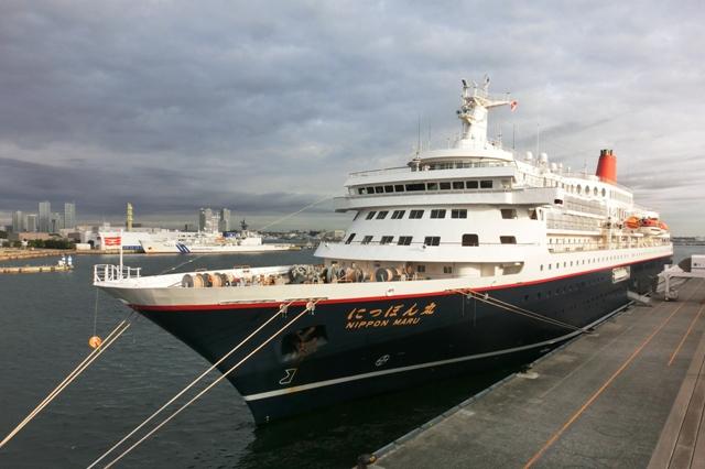 横浜港大さん橋国際客船ターミナルに停泊中のにっぽん丸