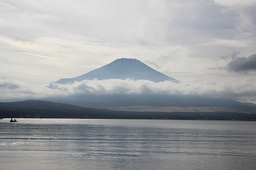 台風前の富士山