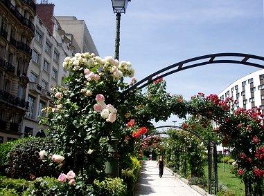 パリの薔薇の道ペレール大通りのアーチREVdownsize