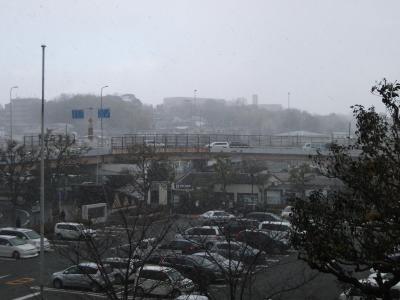 市役所からの雪景色