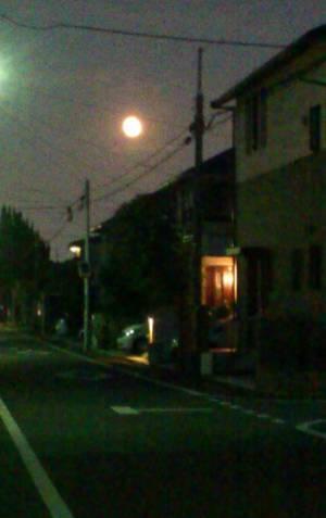 スーパームーンのお月見