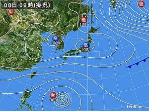 9日天気図