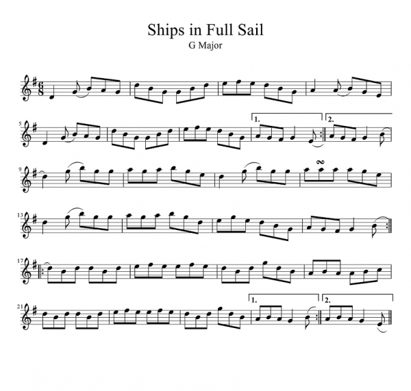 Ships in Full Sail-1