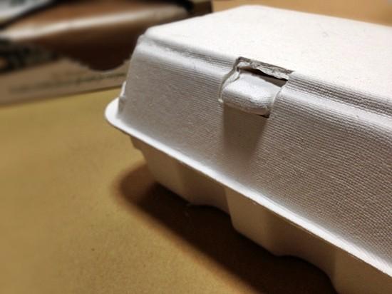 エッグパックでお弁当