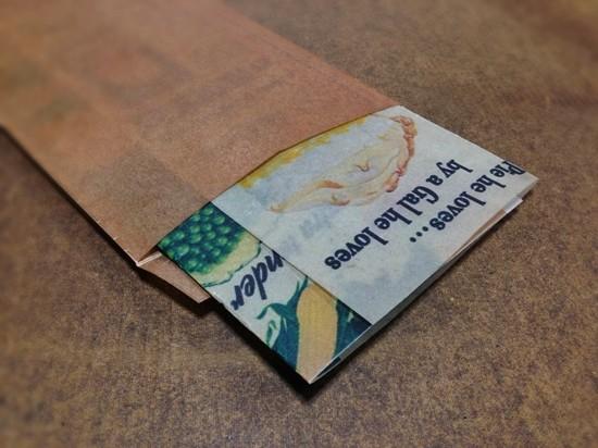 ロウ引きコラージュ長3封筒