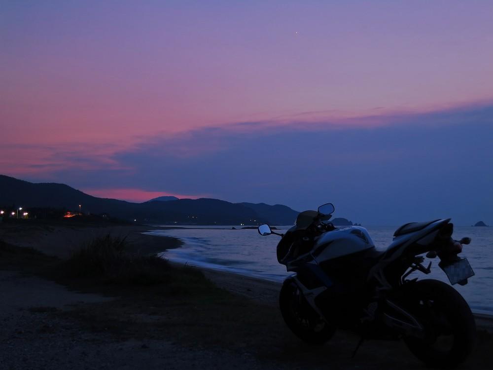 持石海岸夕景