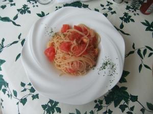 トマトとたらこの冷製パスタ1050円DSCF5521