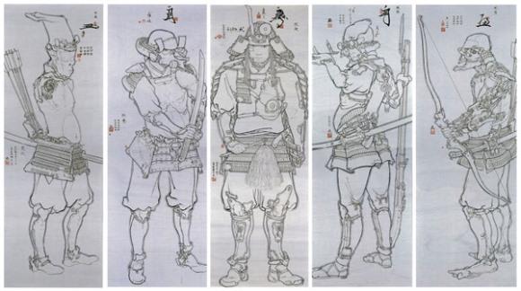 五武人図2