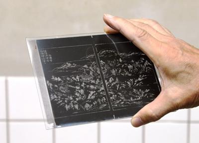 膜返し:ガラス乾板