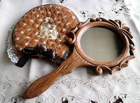 手彫り手鏡