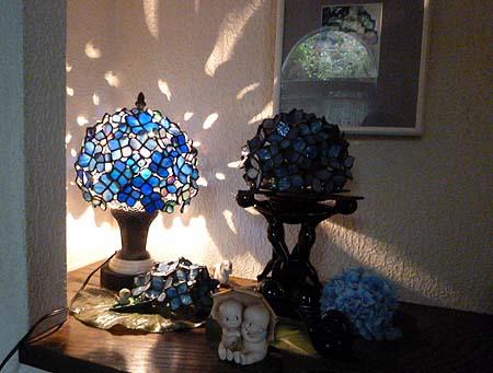 紫陽花ランプに・・・