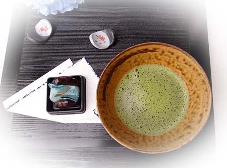 若鮎 &抹茶(八雲)