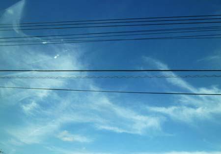 帰路の青空