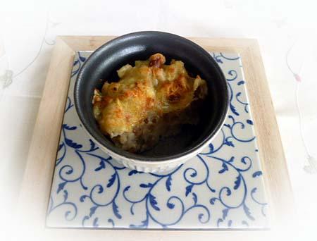 ポテト&納豆のチ-ズ焼き