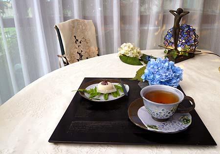 りんりん工房作・紫陽花ティ-ウェア