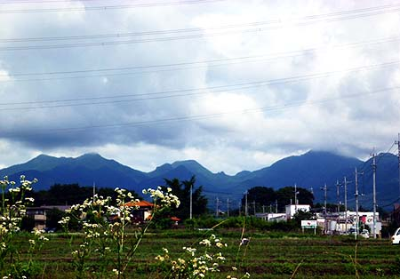 今日の榛名の山並み