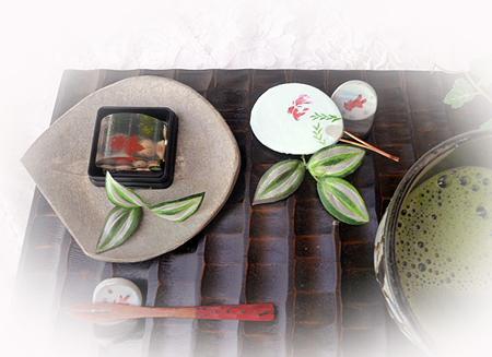生菓子・金魚&お抹茶