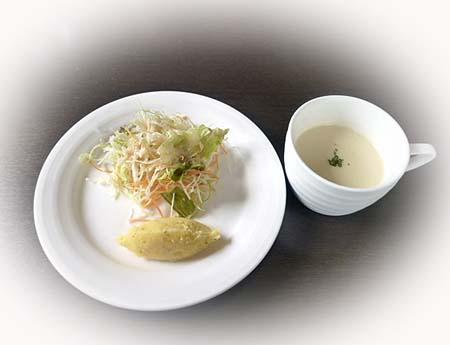 セットサラダ&ジャガイモのス-プ