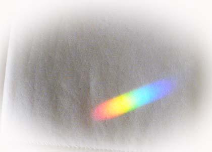部屋の中・・・虹
