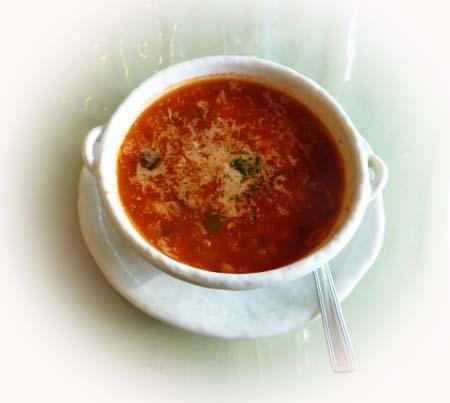 お豆&パスタのトマトス-プ