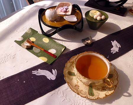 うさぎ饅頭・和三盆・ニルギリ