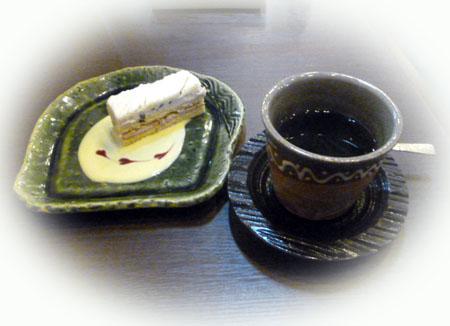 白餡のケ-キ&秋コ-ヒ-