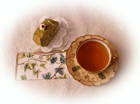 抹茶クレ-プ&ニルギリ