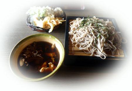 きのこ汁 蕎麦