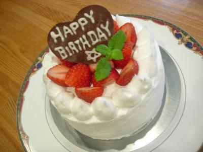 ブログ用いちごショートケーキ