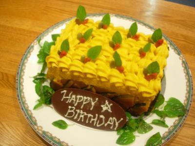ブログ用かぼちゃケーキ