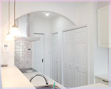 キッチン(背面収納側)